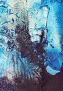 blå abstrakt form